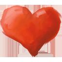 ציור לב אדום