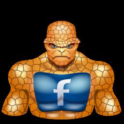 facebook, super hero, thing icon