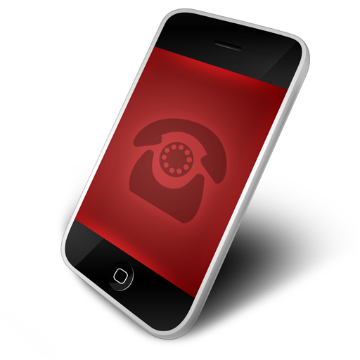 Phone, red icon   Icon search engine  Phone, red icon...