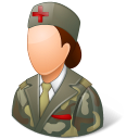 armynurse, female icon