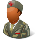 armynurse, dark, male icon