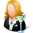 bartender, female icon