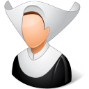 catholic, nun icon