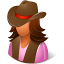 cowgirl icon