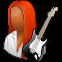 female, guitarist icon