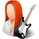 female, guitarist