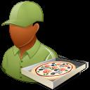 male, pizzadeliveryman icon