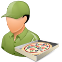 male, pizzadeliveryman icon