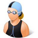female, swimmer icon