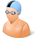 male, swimmer icon