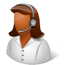 female, technicalsupportrepresentative icon
