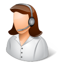 female, call center, support, technical support icon
