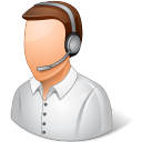 call center, male, support, technical support icon
