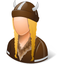 female, viking icon