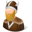 male, viking icon