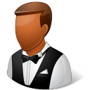 dark, male, waiter icon