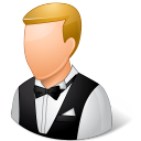 male, waiter icon