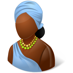 african, female icon