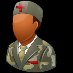armynurse, dark, male icon