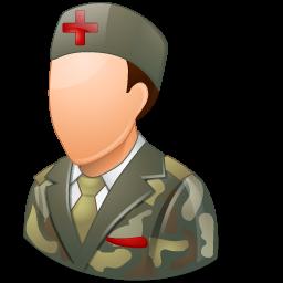 armynurse, male icon