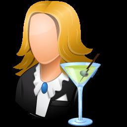 bartender, female icon