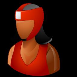 boxer, boxing, dark, female icon