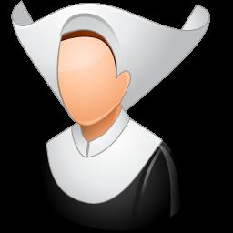 catholic, nun icon