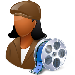 dark, female, filmmaker icon