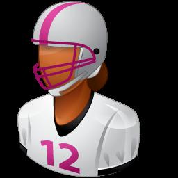female, footballplayer icon