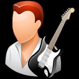 guitarist, male, rock star icon