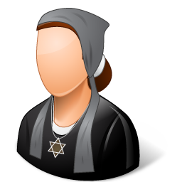 female, jew icon