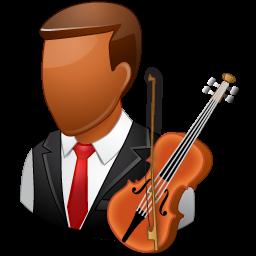 dark, male, musician icon