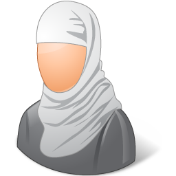 female, muslim icon