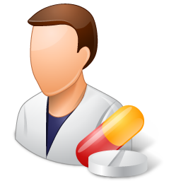 male, pharmacist icon