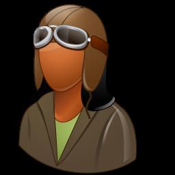 female, pilotoldfashioned icon
