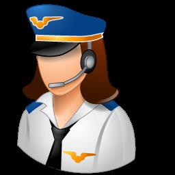 female, pilot icon