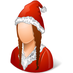 female, santaclaus icon