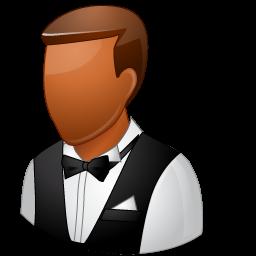 dark, male, waiter icon