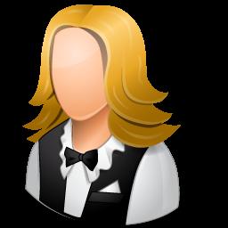 female, waitress icon