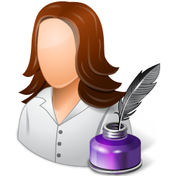 female, writer icon