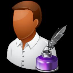 Dark, male, writer icon - Free download on Iconfinder