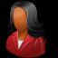 customer, dark, female icon