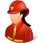 female, firefighter icon