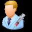 immunologist, male icon