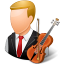 male, musician icon