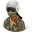 dark, female, pilotmilitary icon