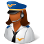 female, pilot icon