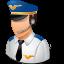 male, pilot icon