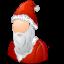 male, santaclaus icon