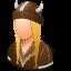 female, viking icon